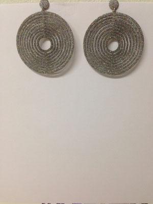 Orecchini pendenti lastra argento glitter