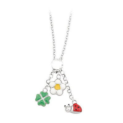 Collana argento con charms smalti colorati
