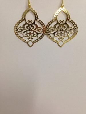 Orecchini pendenti lastra argento placcato