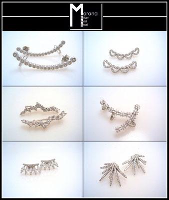 Orecchini argento rampicanti ear cuff