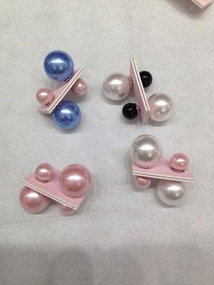 Orecchini doppia perla in argento