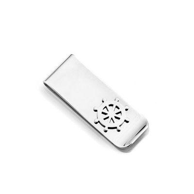Fermasoldi acciaio con timone