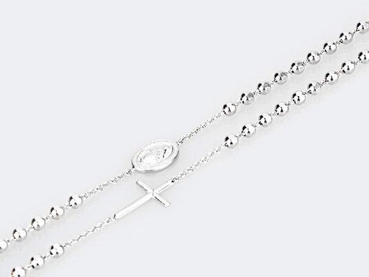 Collana rosario argento
