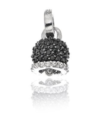 Collana argento campanello zirconi