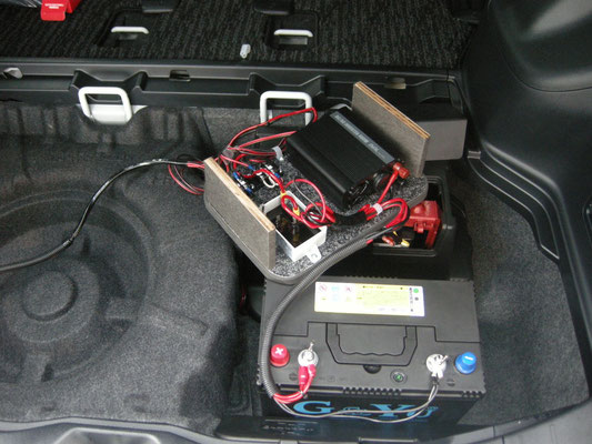 スペアタイヤを使用する時は、ユニットをずらして着脱できます