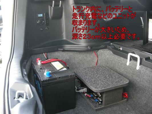 ガソリン車の場合はこのような配置がオススメ