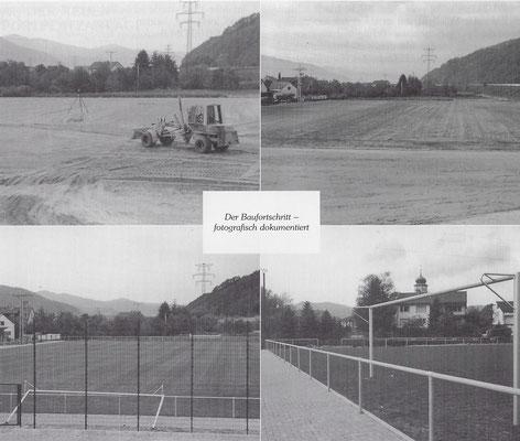 Bau der neuen Sportplatzanlage 1989
