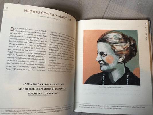 Hedwig Conrad-Martius illustriert von Beate Fahnländer