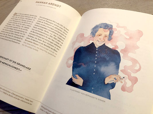 Hannah Arendt illustriert von Bernadette Diemer
