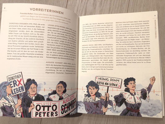 dei Vorreiterinnen illustriert von Franziska Ruflair