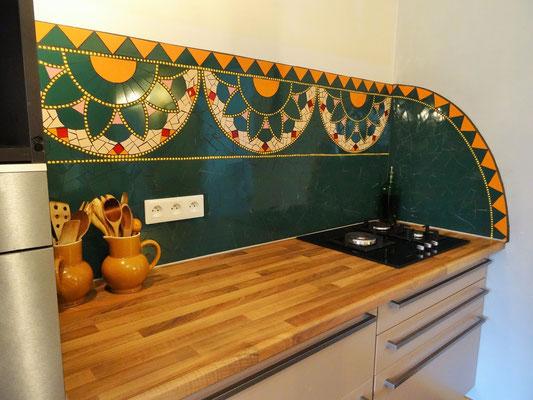 Crédence de cuisine en mosaïque - inspiration Mandala