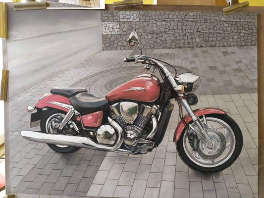 Motorrad handgemalt