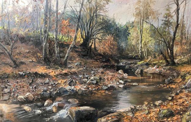 Landschaft handgemalt