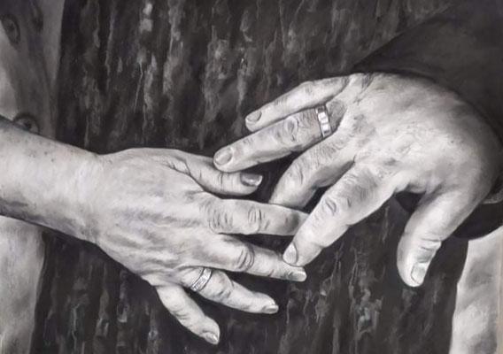 Hände handgemalt