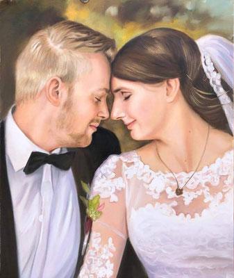 Hochzeit Portrait Ölgemälde