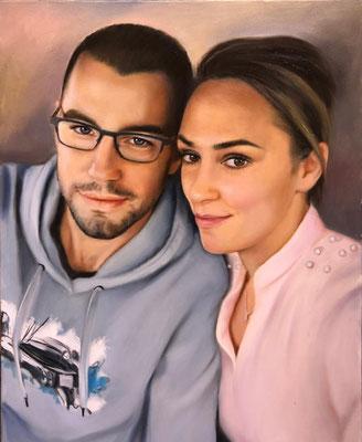 Paar und Single Portrait Öl