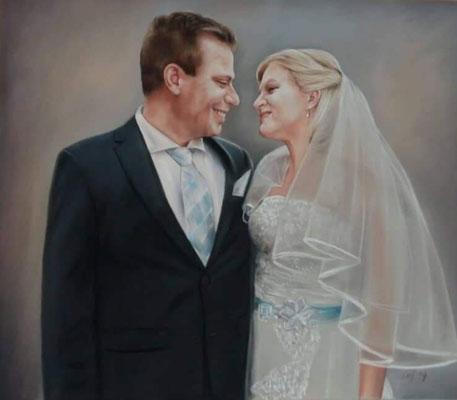 Hochzeit Portrait Pastellgemälde