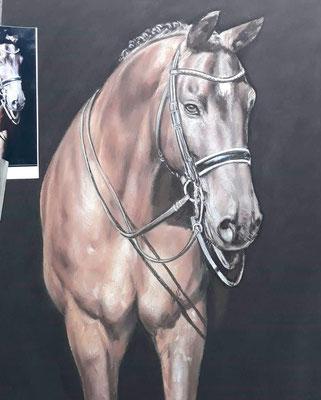 Pferd Pastellgemälde