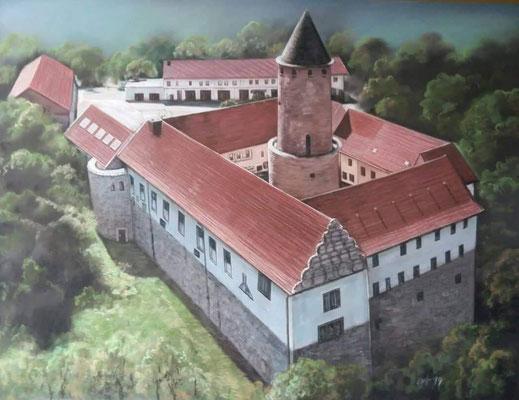 Schloss handgemalt