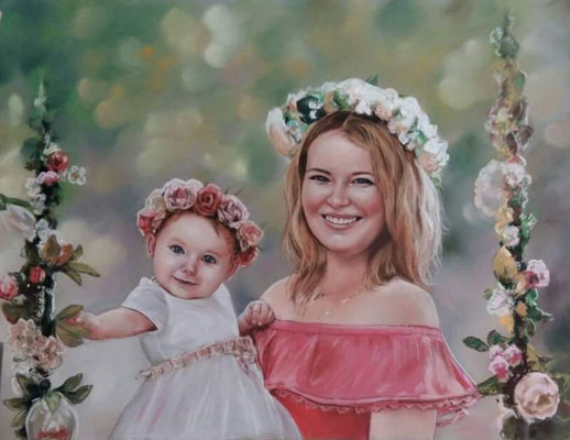 Vergleich Original Gemälde