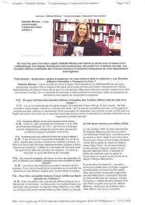 Petit Quentin - Janvier 2008 (suite de l'article dispo sur internet) - page 1