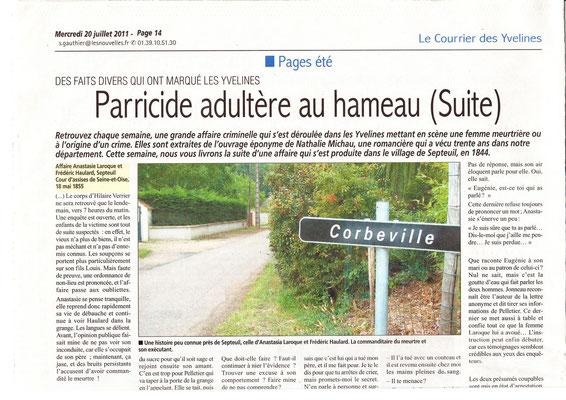 Le courrier des Yvelines - 20 juillet 2011 - page 1