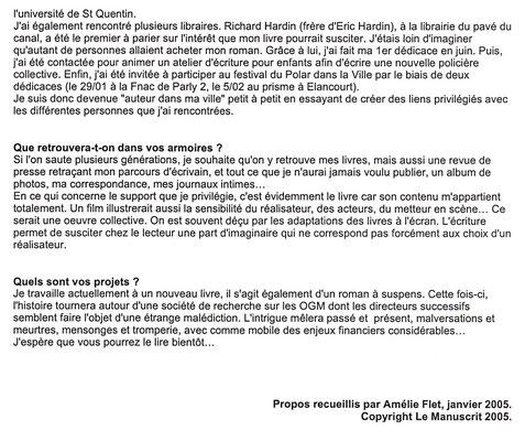 Le manuscrit - Janvier 2005 - Page 2