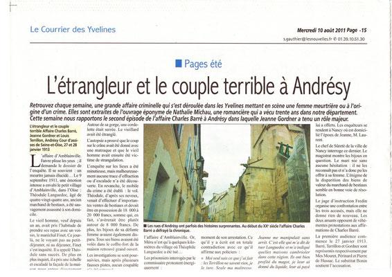 Le courrier des Yvelines - 10 aout 2011 - page 1