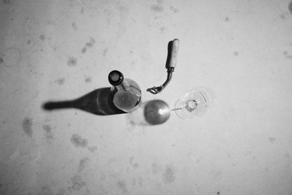Dégorgement d'une bouteille de champagne à la volée | Champagne Launois Paul @ Le-Mesnil-sur-Oger - Côte des Blancs (proche Épernay)