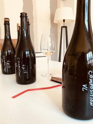 Essais de dosage Cuvée Composition, champagne Grand Cru Blanc de blancs | Champagne Launois Paul @ Le-Mesnil-sur-Oger - Côte des Blancs (proche Épernay)