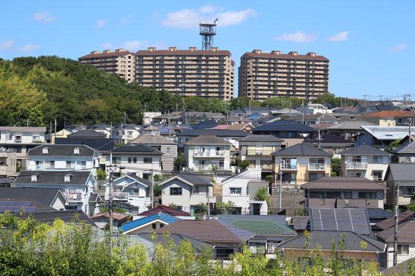 中川 港北ガーデンヒルズと戸建住宅