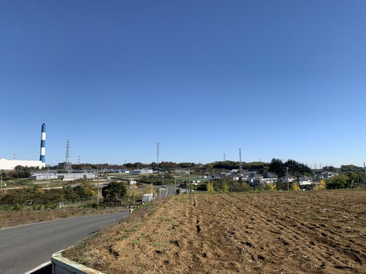 農専地区眺望と煙突