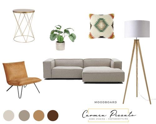Moodboard Möbel und Farben