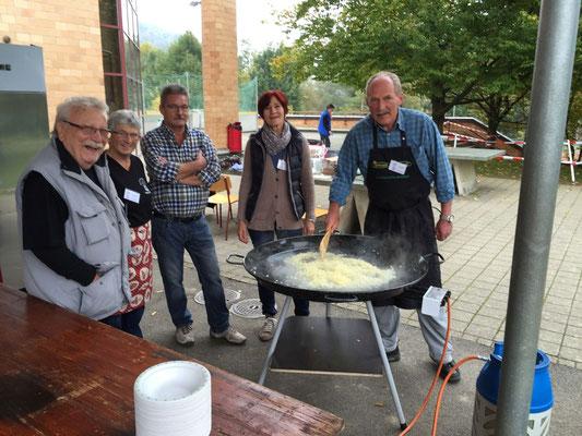 Kochen des Pilzrisottos