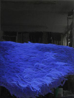 Lichtform, 2019, Lack, Acryl Pigmentfarbe auf Leinwand, 50x40cm