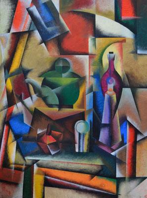 Cubistic Still Life (acrylic) 50*80