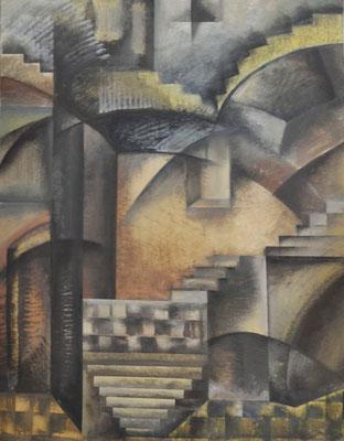 Cubistic fantasy (acrylic) 50*65