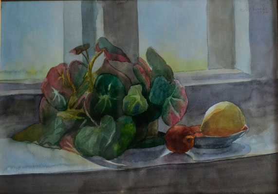 "Still life ""Contre-jour"" (watercolor) 25*35"