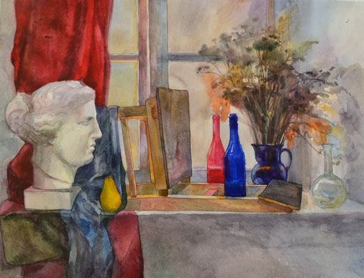 Still life on the window (watercolor) 60*80