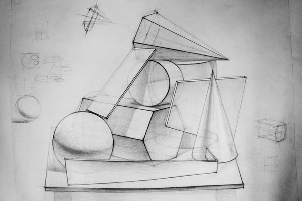 Geometric objects (pencil) 40*55