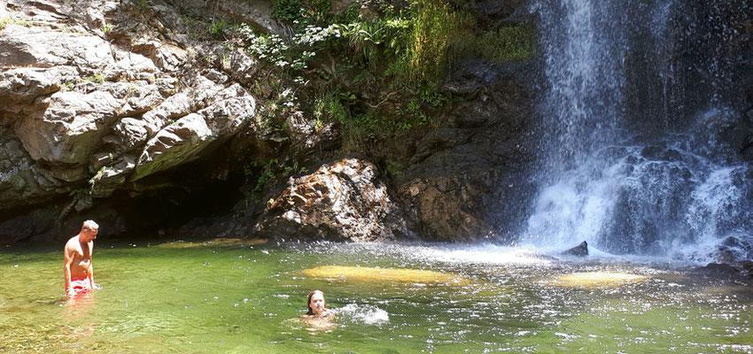 Kalabrien wandern baden Wasserfall