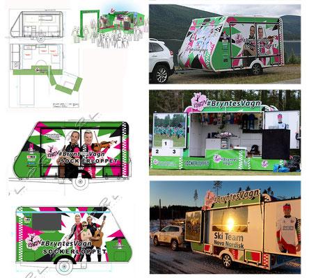 Eventvagn, #BryntesVagn Design/Layout - interiör & extriör för Robin Bryntesson. http://bryntes.se/ Print & montage: Dorotea & Hoting aktuellt, http://www.doroteaaktuellt.se/ S-karosser, http://www.skarosser.se/modell SK 450
