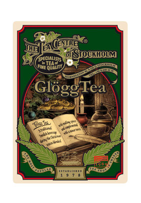 Glögg Tea. Illustration/Design/Layout för The Tea Centre of Stockholm. www.theteacentre.se