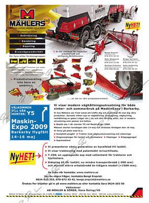 Annons, Foto/Design/Layout för Mählers, http://mahlers.se/