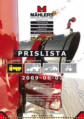 Framsida, Foto/Design/Layout för Mählers, http://mahlers.se/