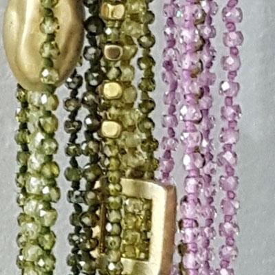 Collane in zircone e argento laminato oro