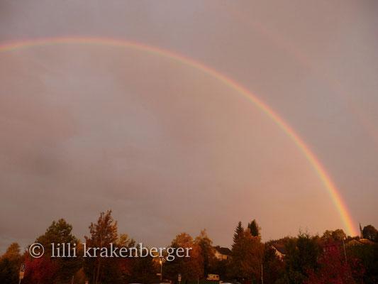 Regenbogen über Zumikon 2014, Rainbow over Zumikon close to Zurich, Switzerland