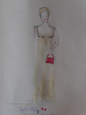 """""""leichtes Mädchen"""", Kostümbildentwurf für """"Wiener Blut"""", 2008"""