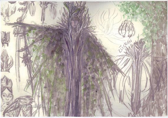 Xang im Ried, Freilichtspiel von Paul Steinmann, Kostümbildentwurf Riedgeister, 2008