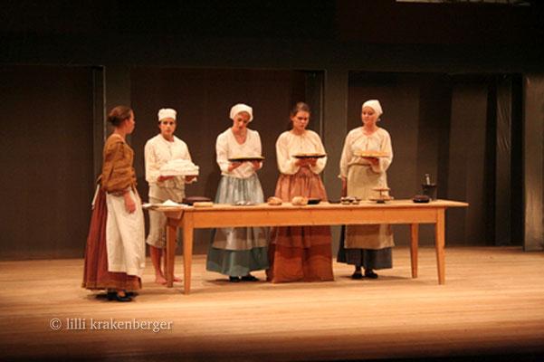 Cyrano de Bergerac, 12.Klass-Theater Steiner-Schule Wetzikon, Backstube, 2007